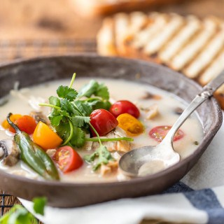 Thai Coconut Chicken Soup | The Cookie Rookie