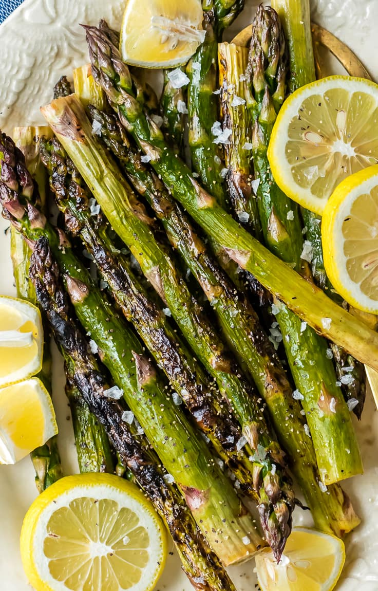 grilled asparagus with lemon butter