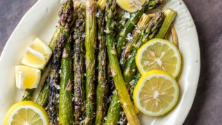 Grilled Asparagus Recipe with Lemon Butter
