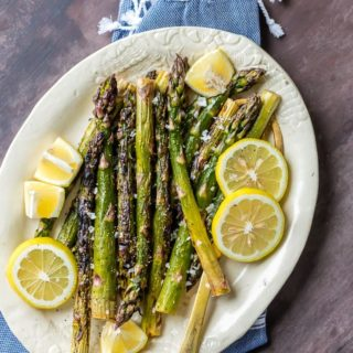 Grilled Lemon Butter Asparagus