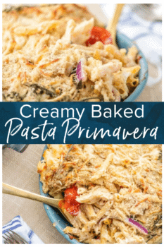 baked pasta primavera pinterest collage