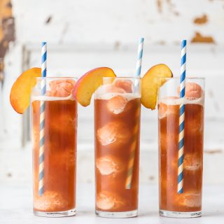 Peach Tea Ice Cream Floats