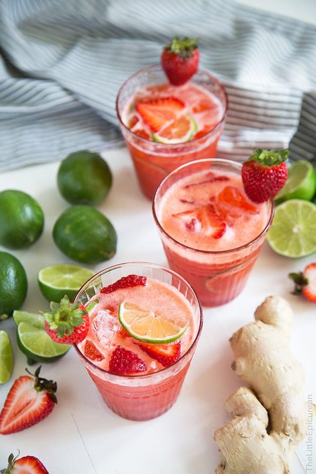 Strawberry Ginger Limeade | The Little Epicurean