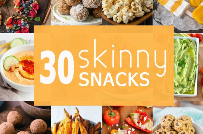 30 Skinny Snacks perfect for kids or adults! Easy healthy appetizers and snacks ready in minutes to keep you going the entire day! Best healthy snack roundup ever!
