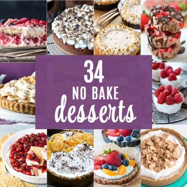 34 No Bake Desserts