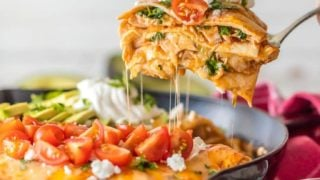 Chicken Enchilada Skillet Pie