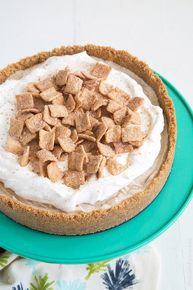 Cinnamon Toast Crunch Ice Cream Pie | The Little Epicurean