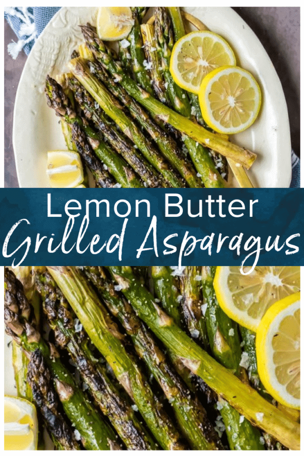 lemon butter grilled asparagus pinterest pic