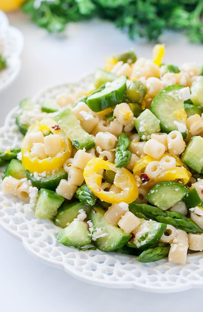 Lemon Asparagus Pasta Salad   Peas and Crayons