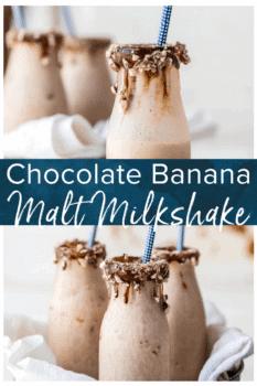 chocolate banana malt milkshake