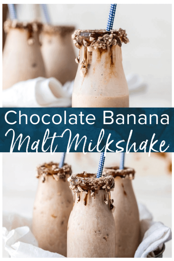 chocolate banana malt milkshake