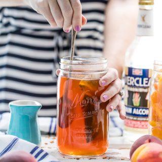 Homemade Peach Tea Vodka (Plus the Spiked Peach Arnold Palmer!)