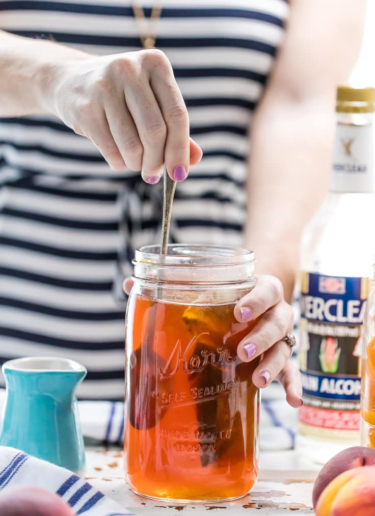 Homemade Peach Tea Vodka (Plus the Spiked Peach Arnold Palmer!) - The ...