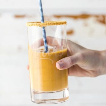 This PUMPKIN SMOOTHIE recipe is the perfect fall drink to add to your daily routine. Start your day the right way with this delicious Pumpkin Protein Smoothie. Loaded with protein powder, greek yogurt, pumpkin, almond milk, and banana, this Pumpkin Pie Smoothie tastes just like pumpkin pie!