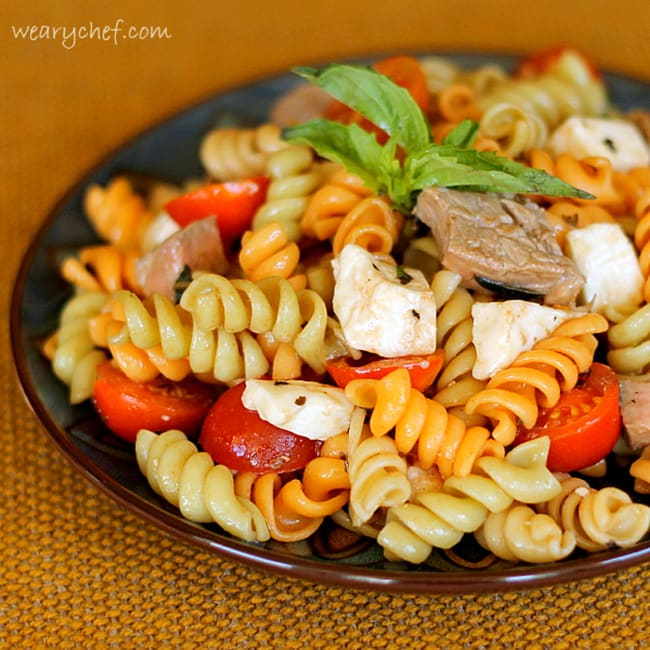 Steak Caprese Pasta Salad | The Weary Chef