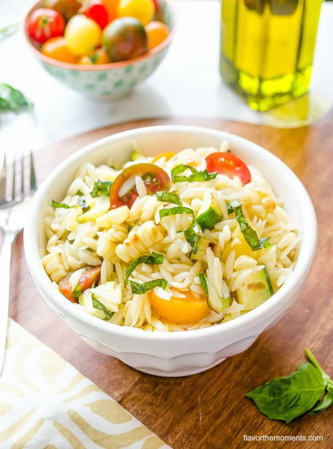 Summer Vegetable Orzo Pasta Salad | Flavor the Moments