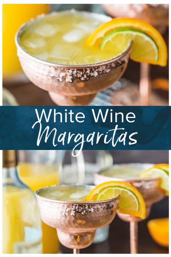 white wine margaritas pinterest collage