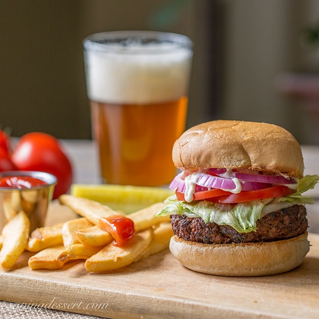 Marinated Burgers | Saving Dessert