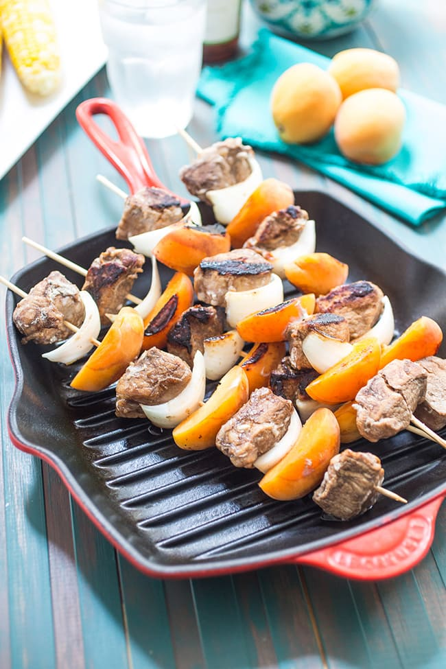 Pork and Apricot Kebobs | Girl in the Red Kitchen