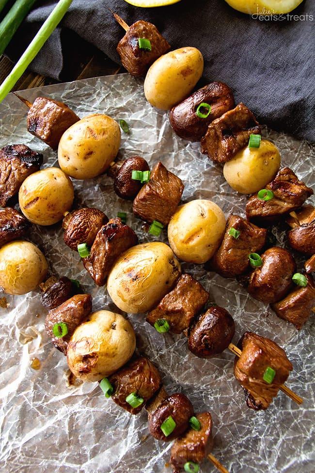 Steak & Potato Kebabs | Julie's Eats and Treats