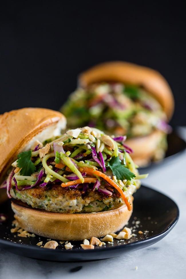 Thai Chicken Burger | Nutmeg Nanny
