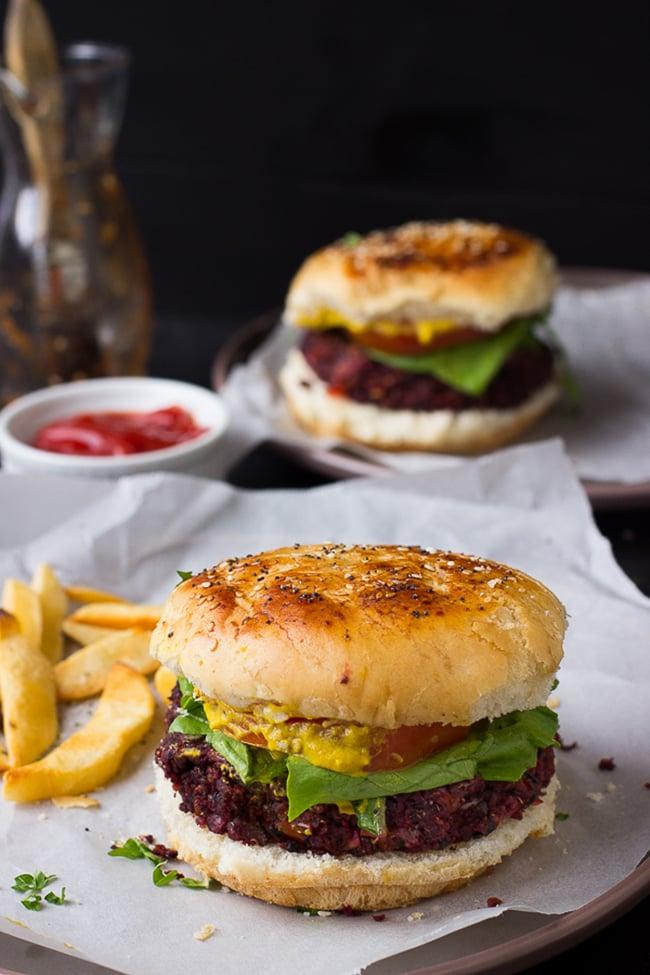 Vegan Quinoa Beet Burgers | Jessica in the Kitchen