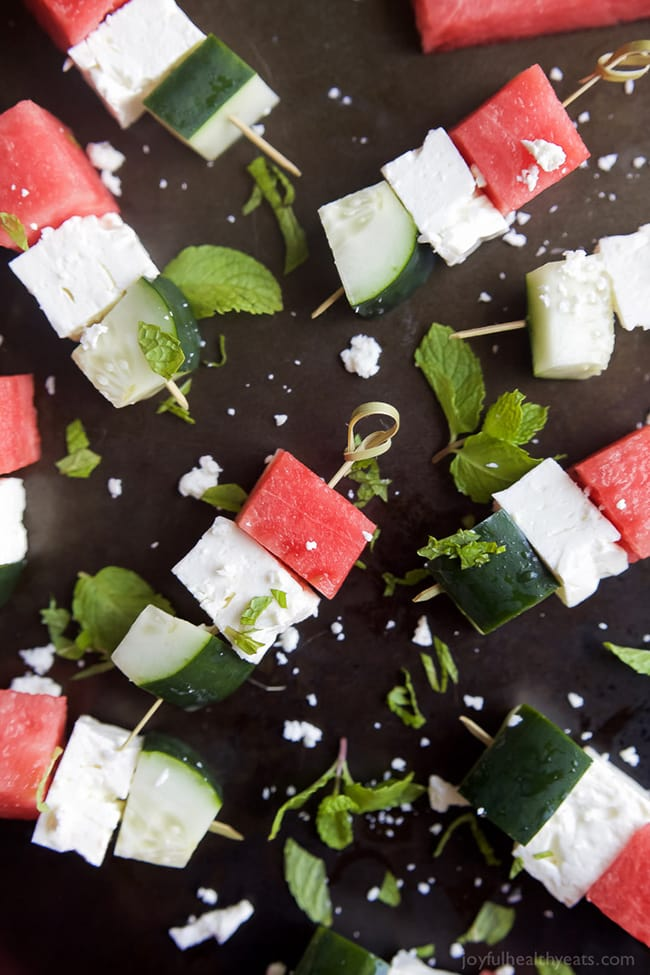 Watermelon Feta Bruschetta | Joyful Healthy Eats