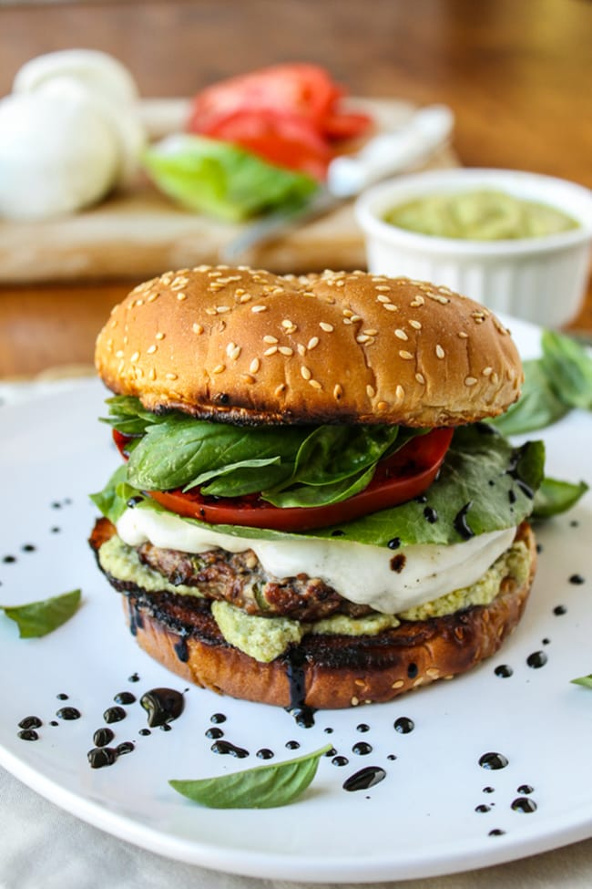 Caprese Burger | The Food Charlatan