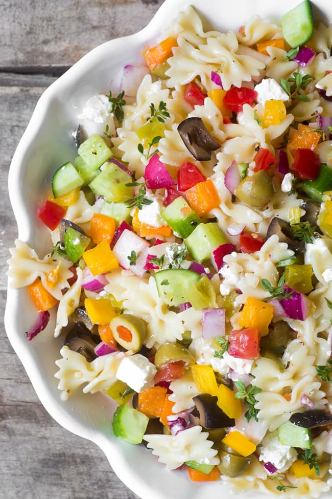 Israeli Pasta Salad | The View From Great Island