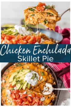 chicken enchilada skillet pie pinterest image