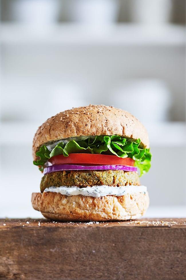 Falafel Tahini Burgers with Tzatziki | Natural Girl Modern World