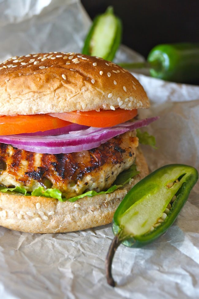 Grilled Jalapeño Pepper Jack Turkey Burger | Cooking on the Weekends