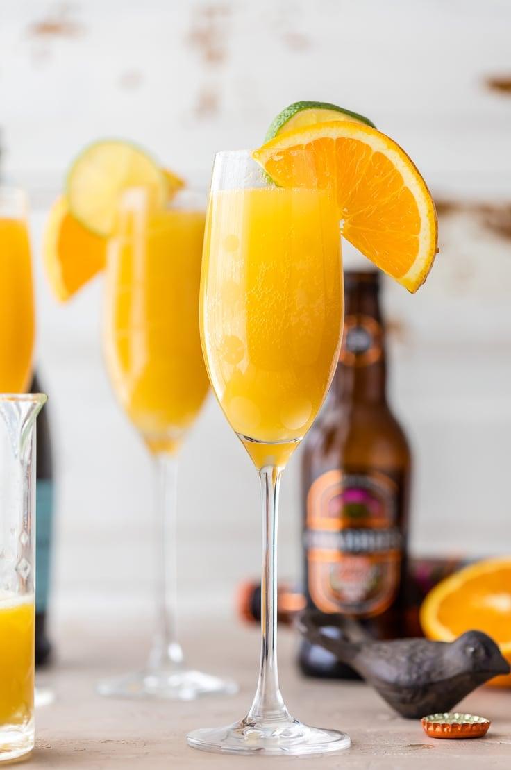 mimosa with orange slices