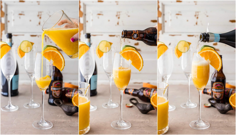 making mimosas