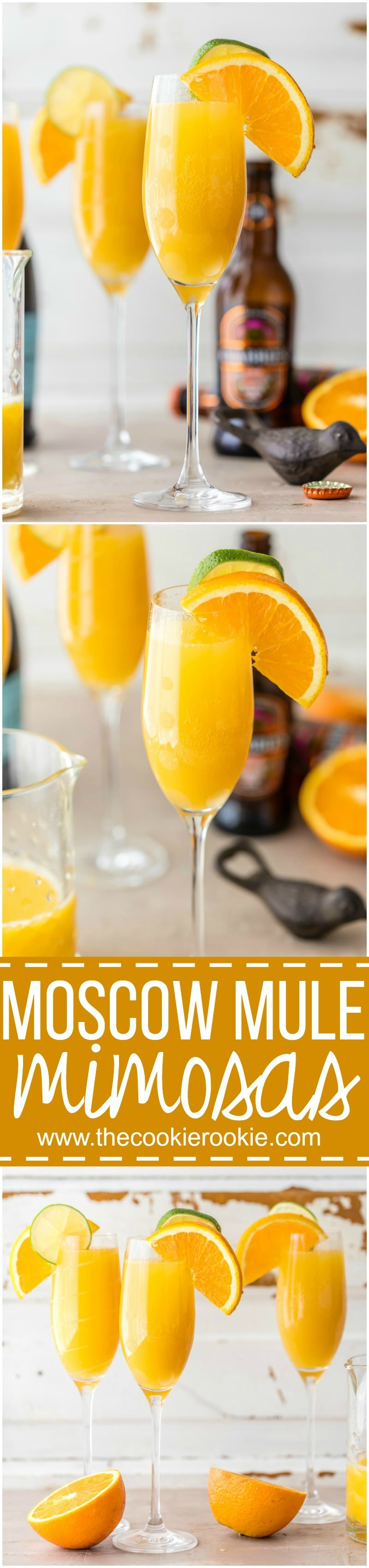 Moscow Mule Mimosas - The Cookie Rookie