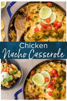 chicken nacho casserole pinterest image