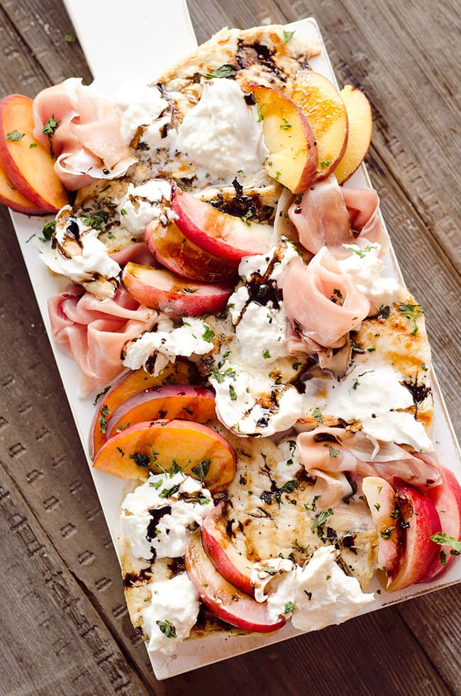 Balsamic Chicken with Peaches & Prosciutto | The Creative Bite