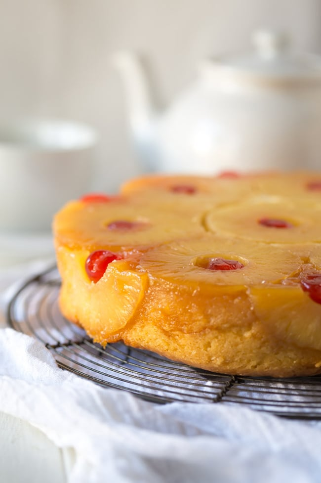 Gluten-Free Pineapple Upside Down Cake | Noshtastic