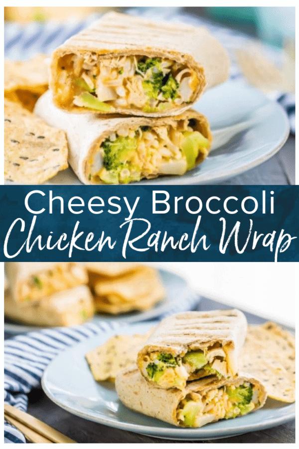 ranch broccoli chicken wrap pinterest photo