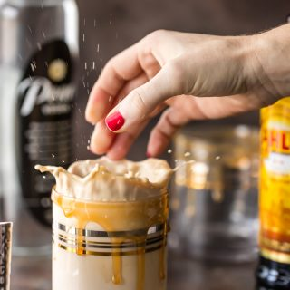 This SKINNY WHITE RUSSIAN has it all! Super creamy, flavorful, and just a fraction of the calories. You don't have to feel guilty while sipping this skinnier version of a cocktail favorite!