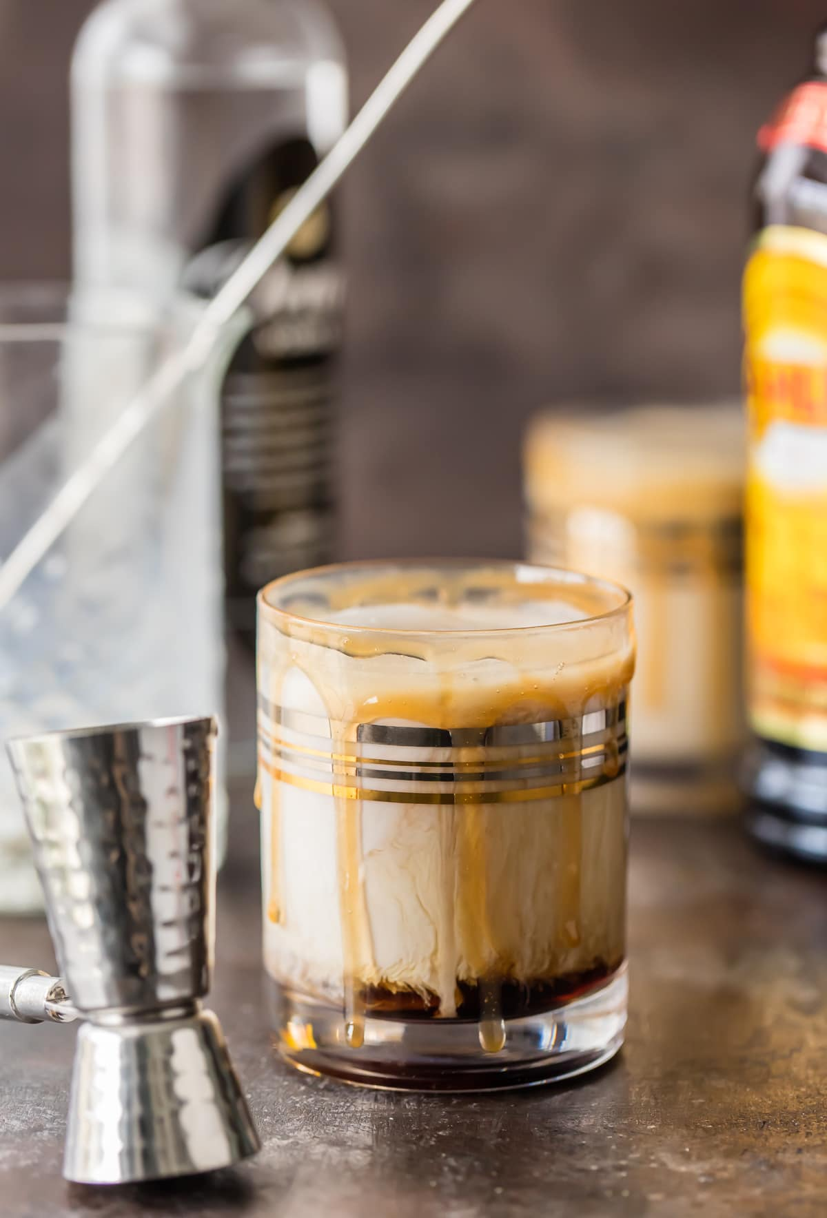 white russian cocktail in a short glass