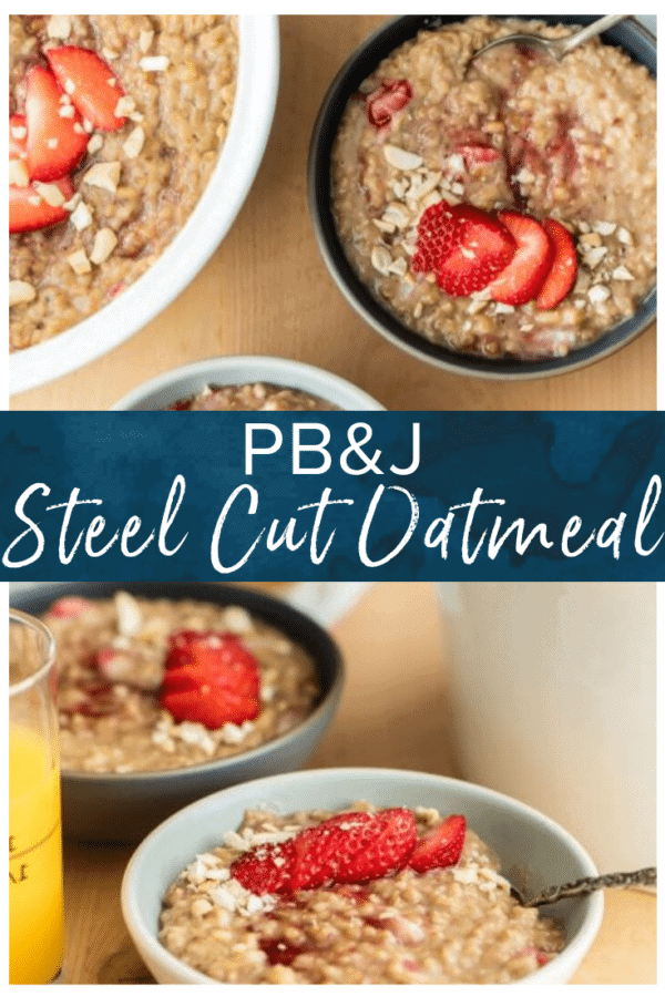 PBJ steel cut oatmeal pinterest photo