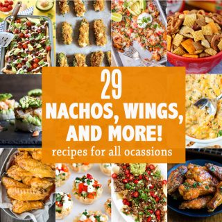 29 NACHO, WING, AND MORE! All the best tailgating recipes for gameday in one place! Easy appetizer recipes for every occasion. BEST ROUNDUP EVER!