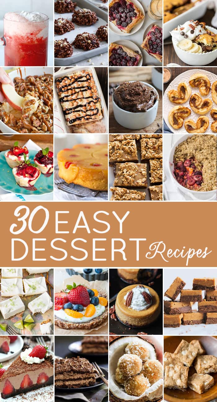 Easy dessert recipes are here to help you create and serve delicious desserts without the fuss! Each of these easy dessert recipes are quick and easy to make.