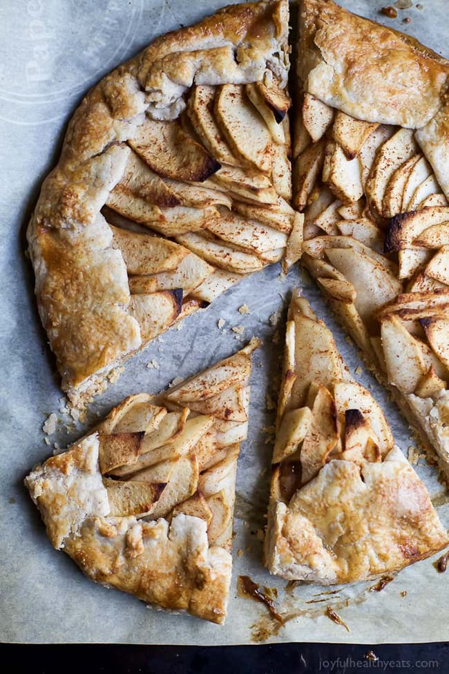 Rustic Cardamom Apple Galatte with Maple Mascarpone | Joyful Healthy Eats