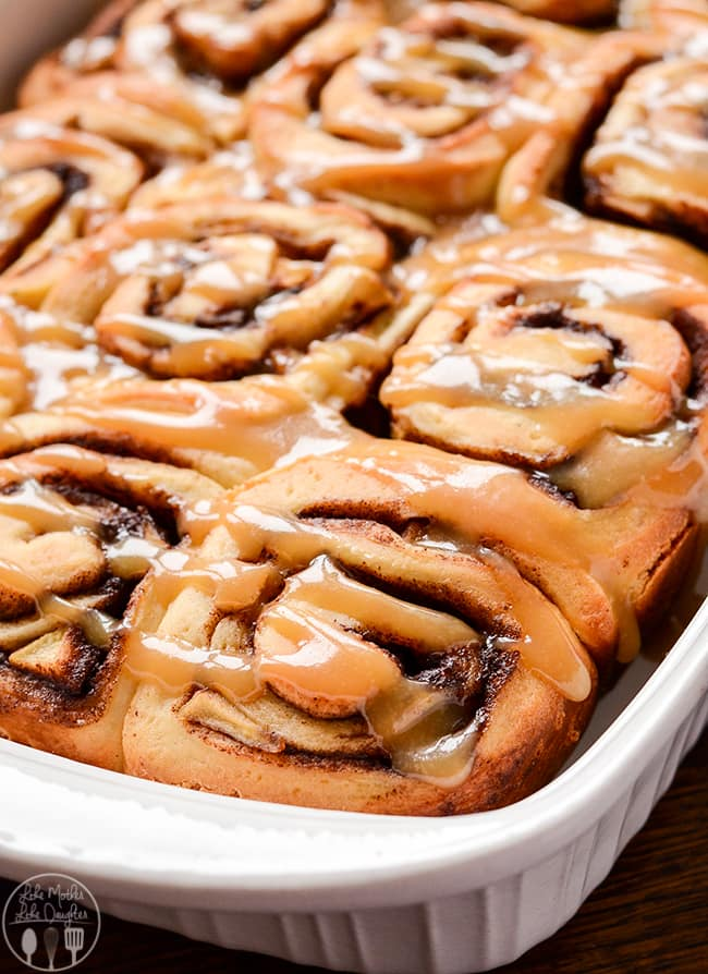 Caramel Apple Cinnamon Rolls | Like Mother, Like Daughter