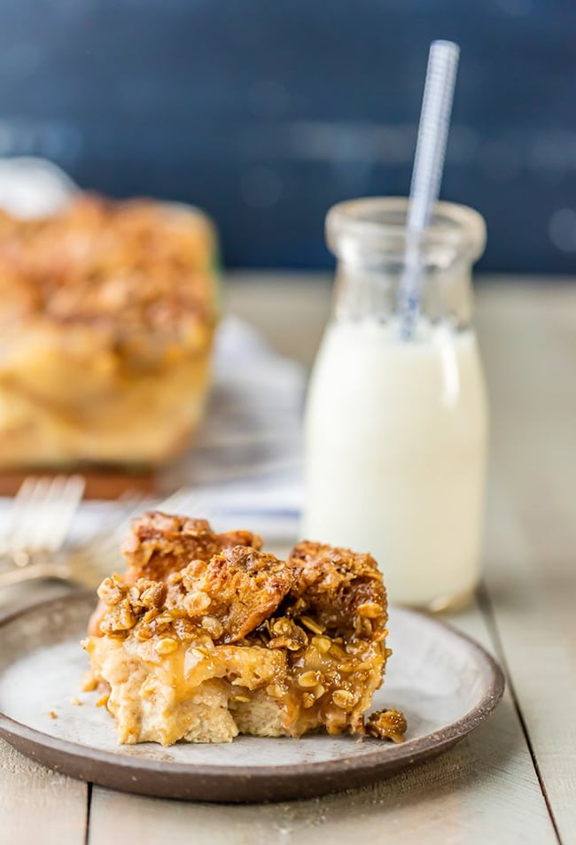 Caramel Apple Pie Bread Pudding | The Cookie Rookie