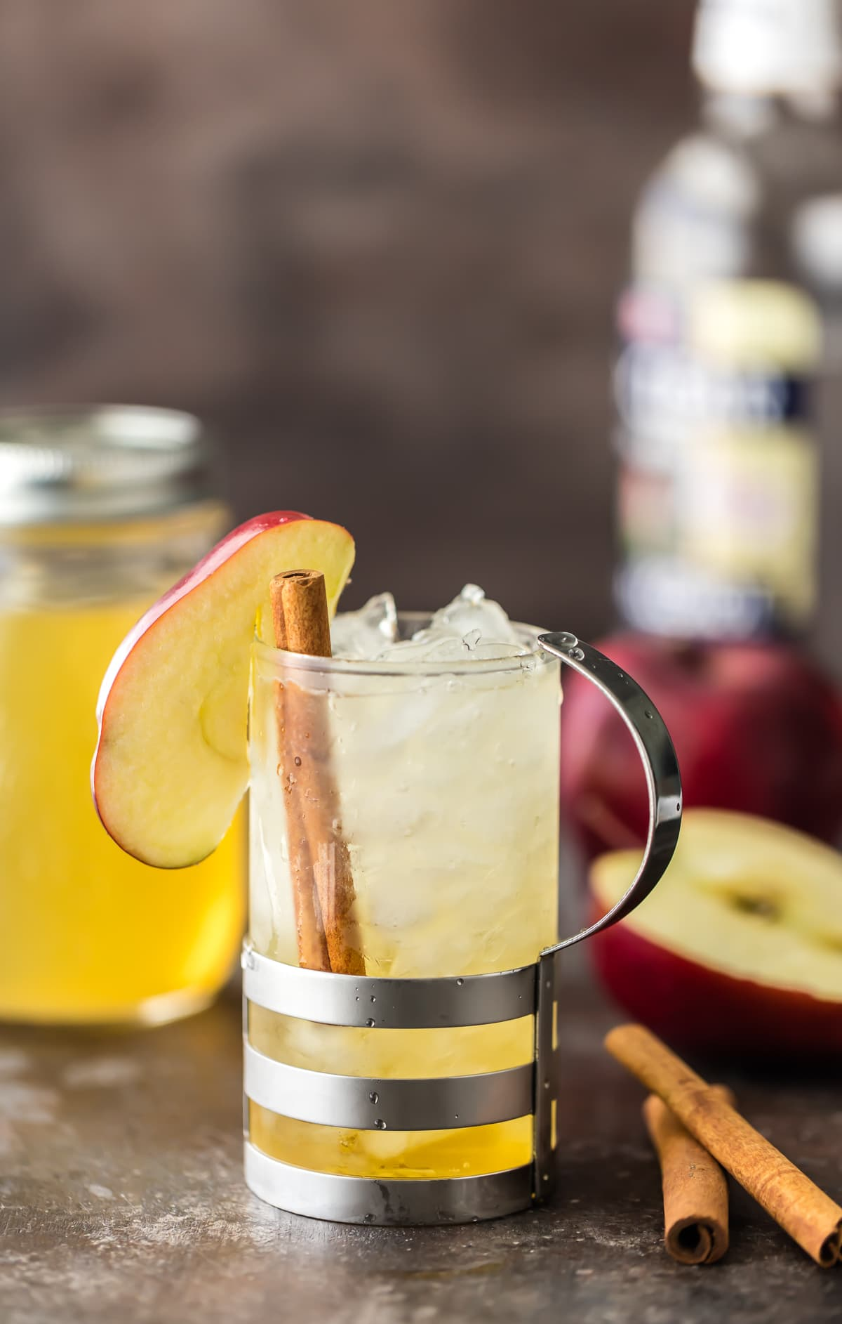 Apple Pie Spritzer made with apple vodka