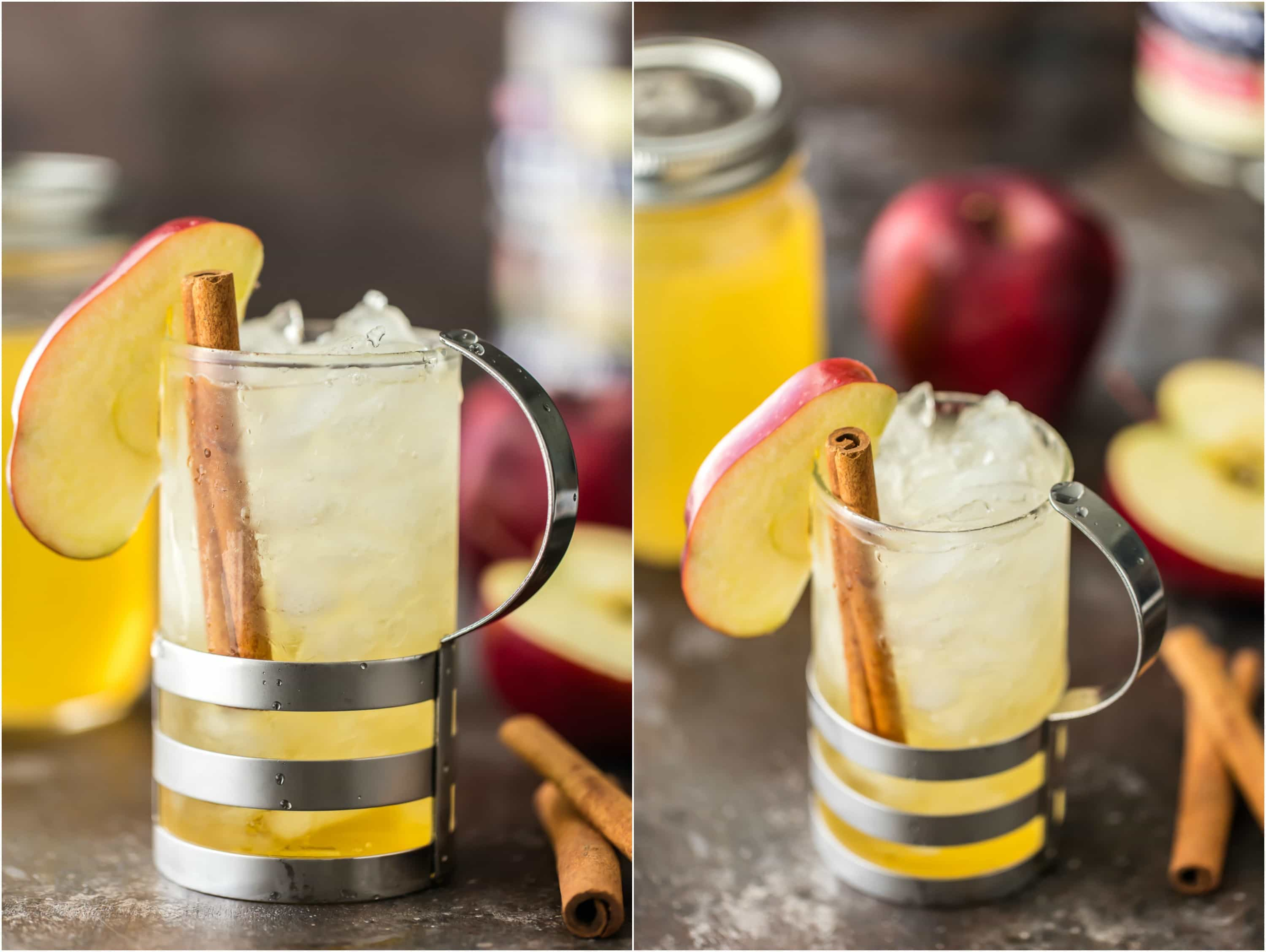 Homemade Apple Pie Vodka is an easy gift idea for Fall! Simple Apple Pie Vodka makes the best fall cocktail with Apple Pie Spritzer! Apple Pie Vodka, Apple Cider, and Club Soda! SO DELISH!
