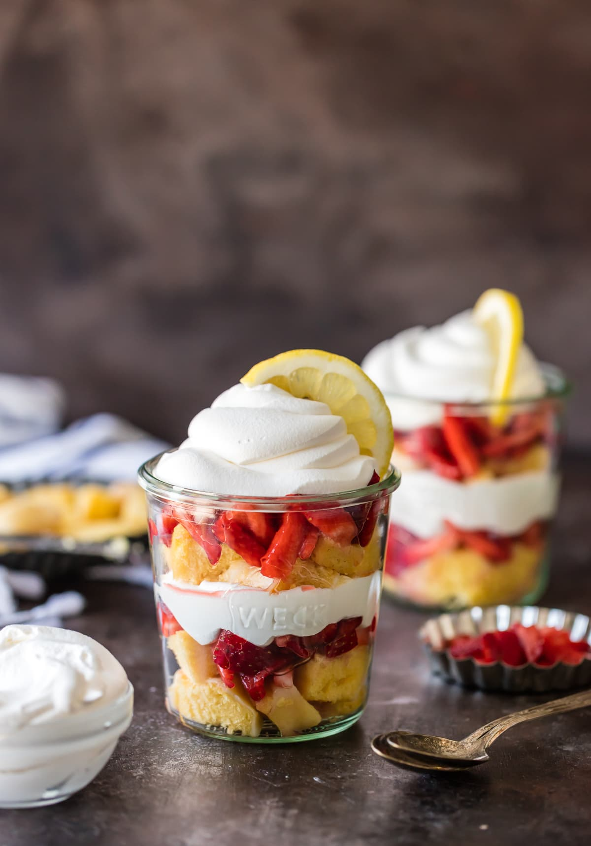Lemon Strawberry Shortcake Cups